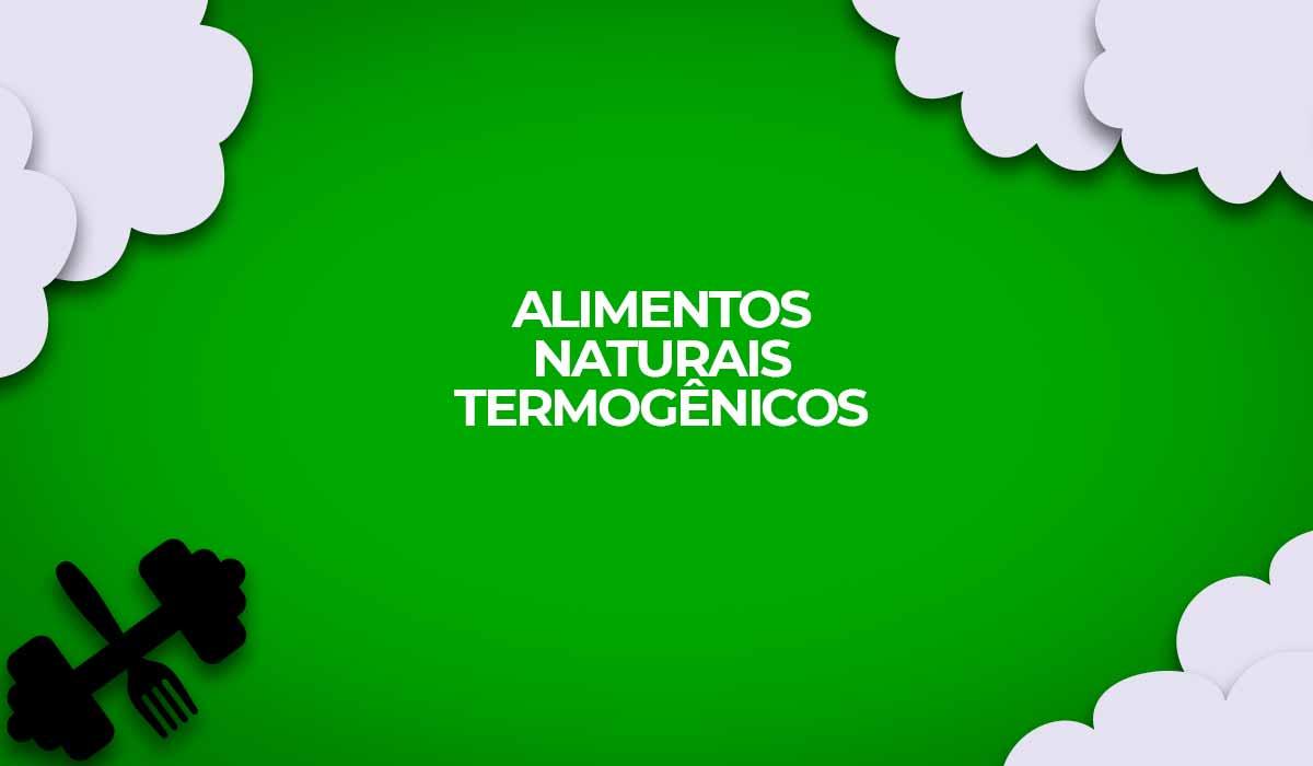alimentos naturais termogenicos