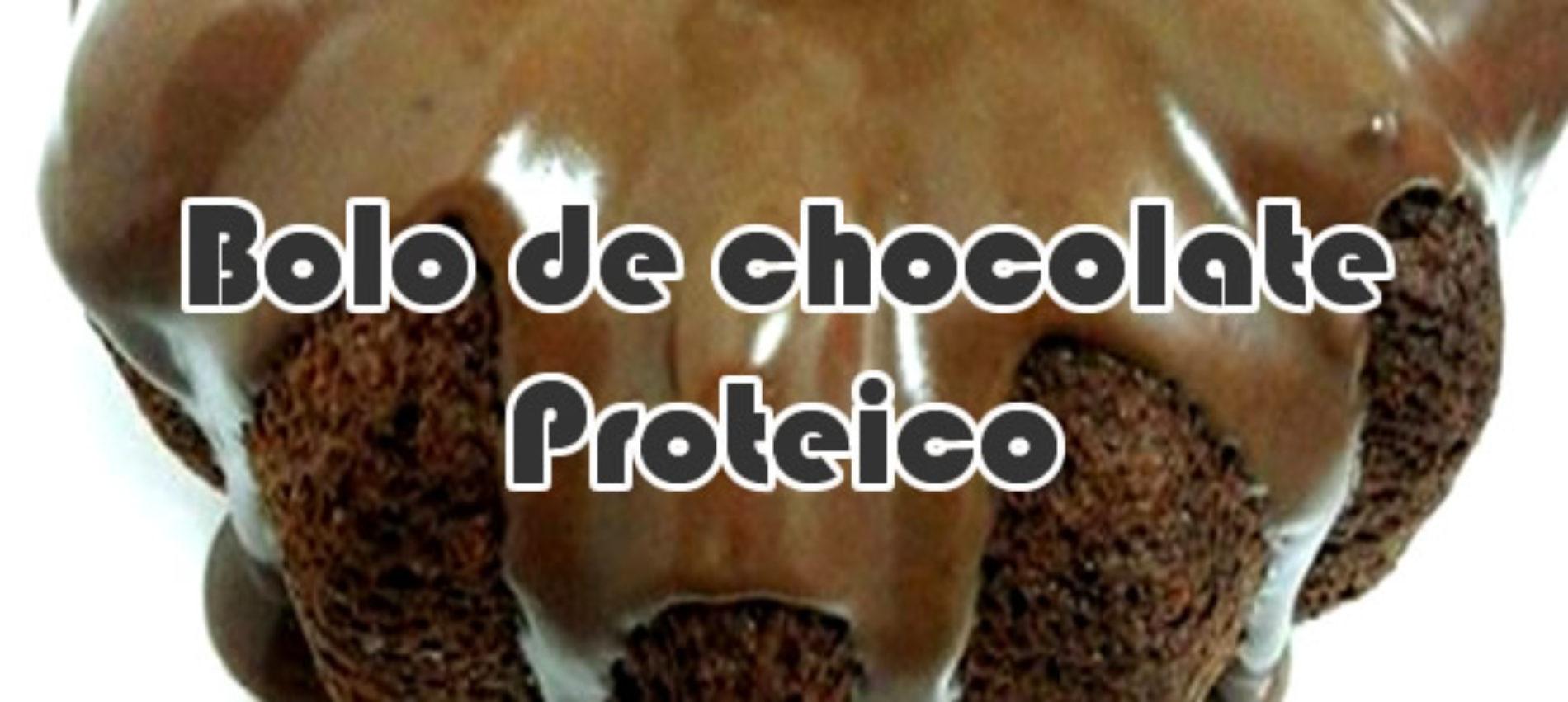 Bolo de chocolate proteico
