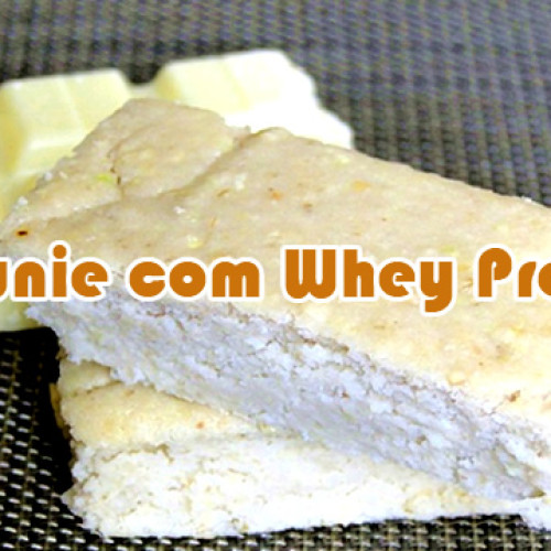 Brownie de chocolate branco com Whey Protein