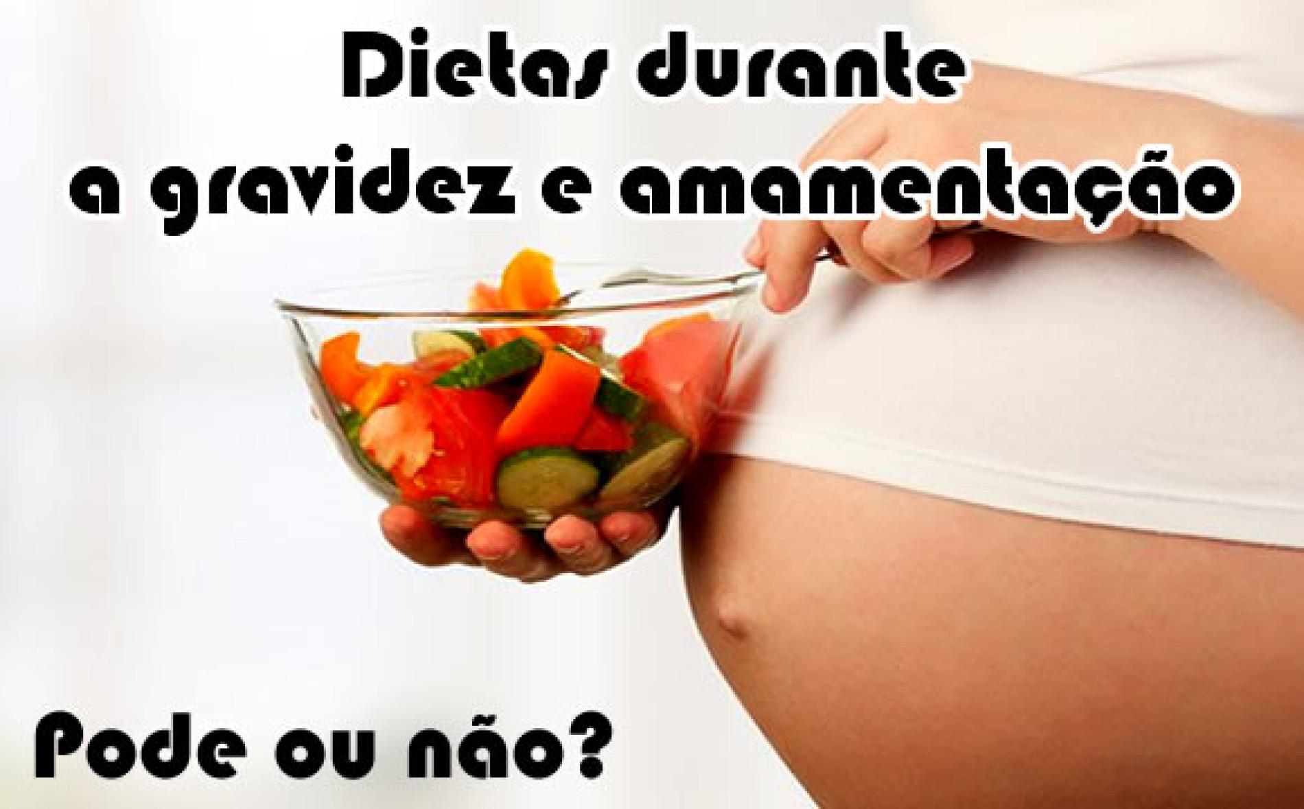 Dieta durante a gestação e amamentação