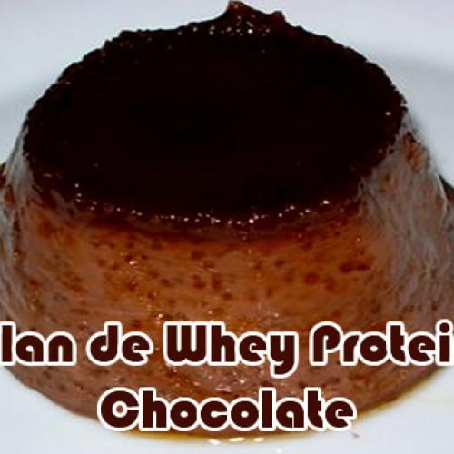 Flan caseiro proteico com Whey Protein de chocolate