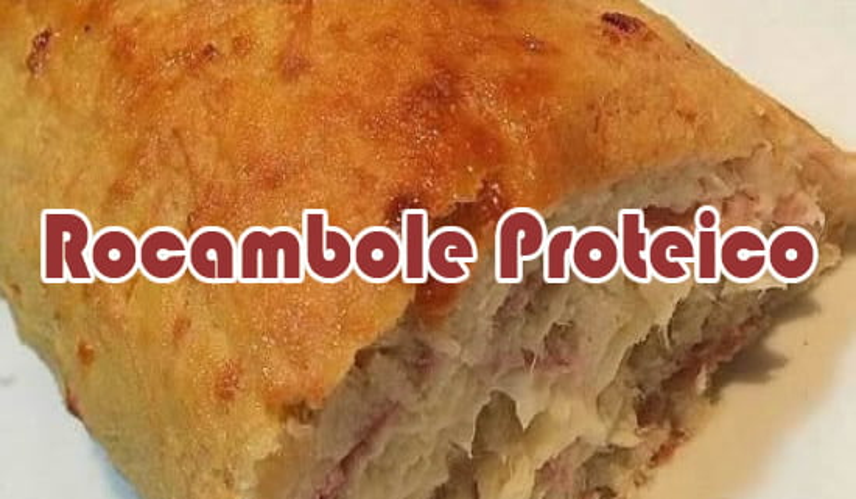 receita rocambole proteico academia