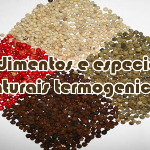 Condimentos e especiarias naturais termogenicos