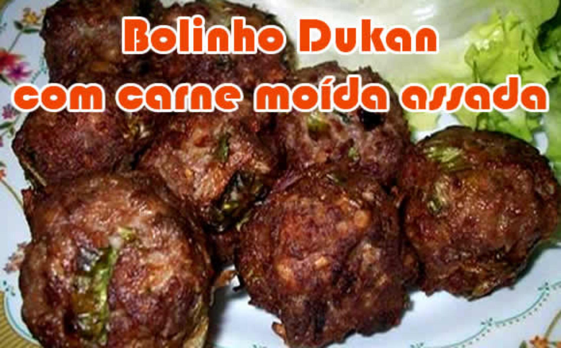 Bolinho Dukan de carne assada