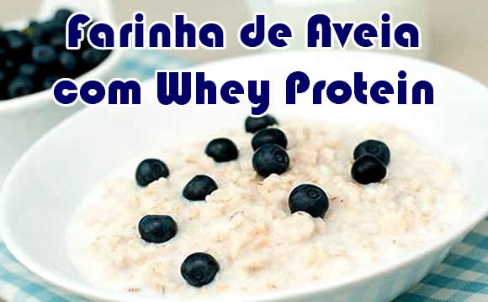 Farinha de Aveia com Whey Protein