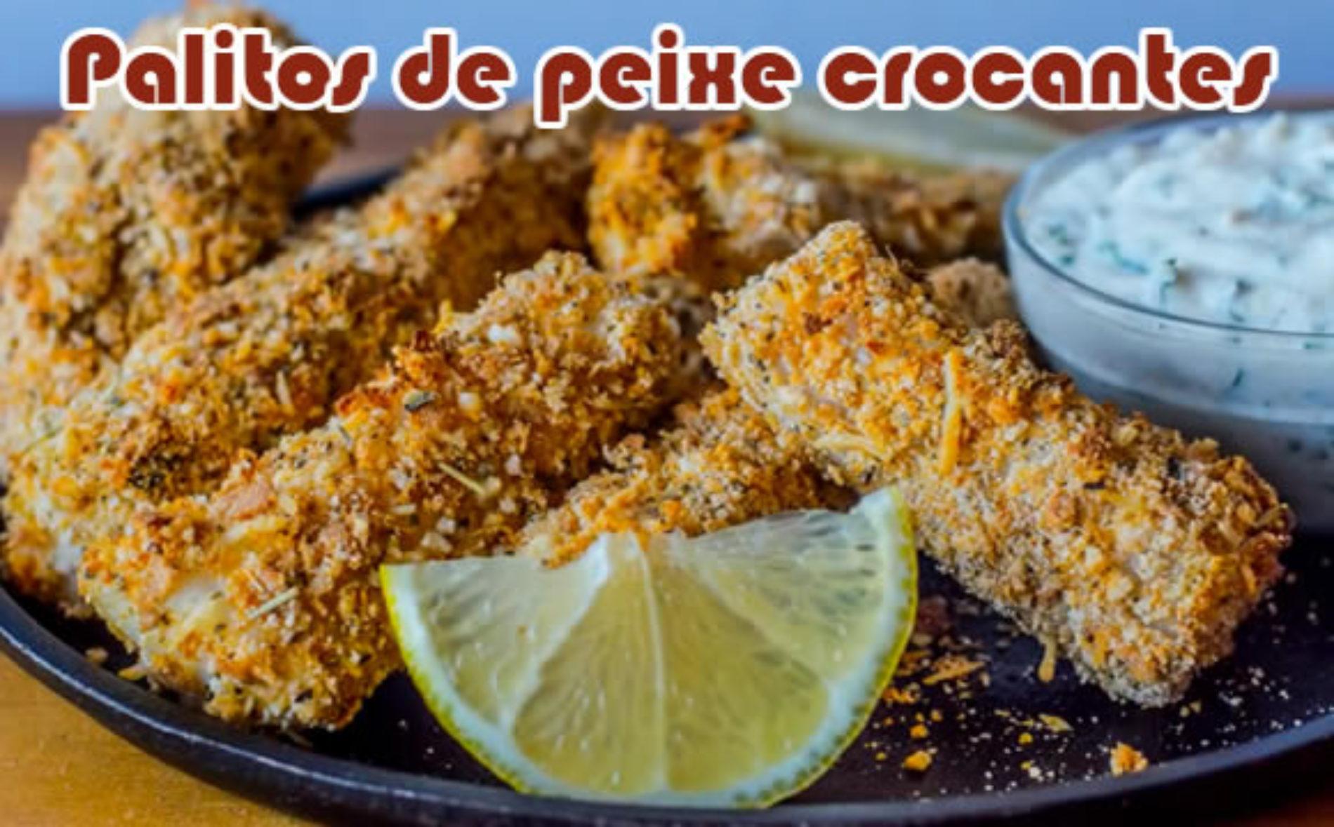 Palitos de peixe crocantes com parmesão