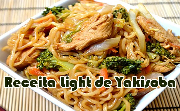yakisoba com shirataki receita light