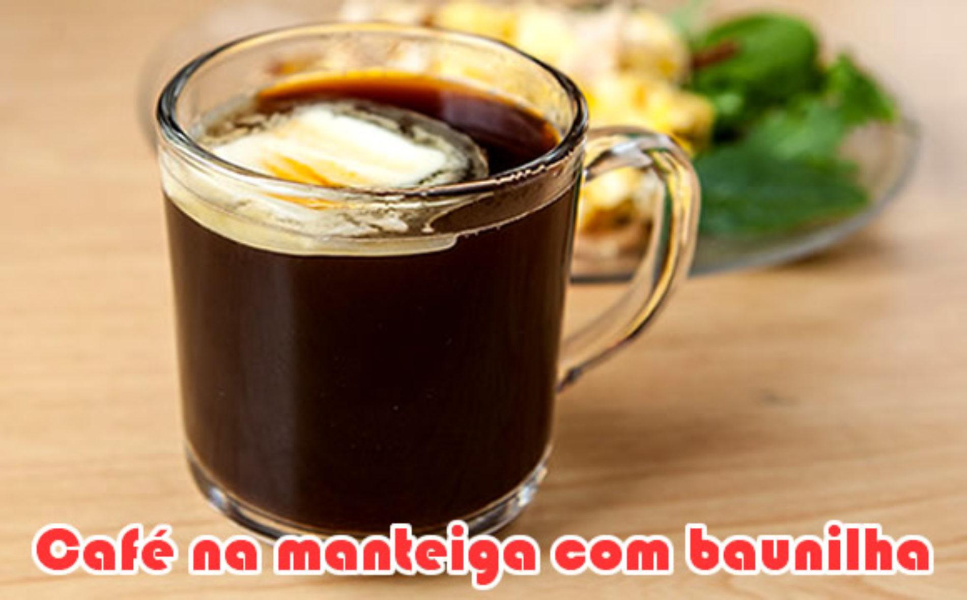 Café na manteiga com baunilha Paleo