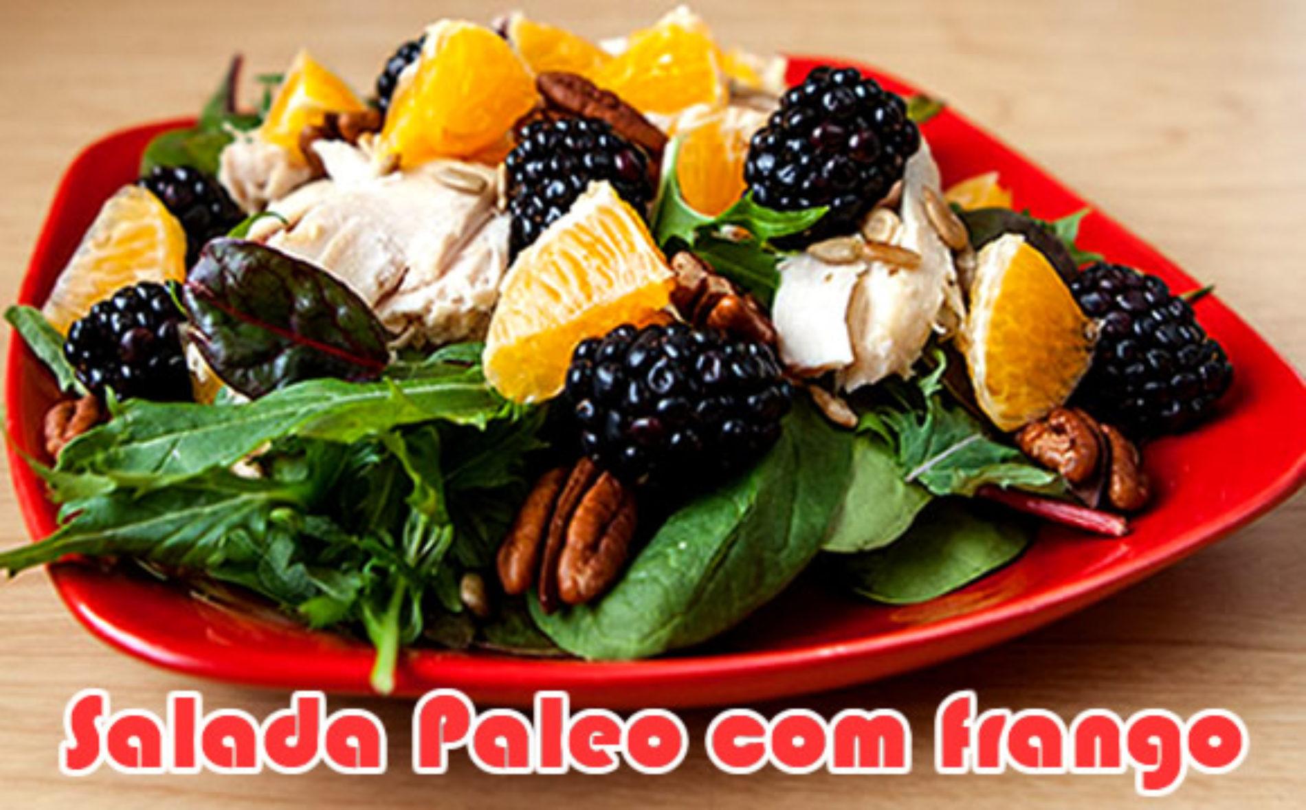 Salada Paleo de frango com laranja e nozes