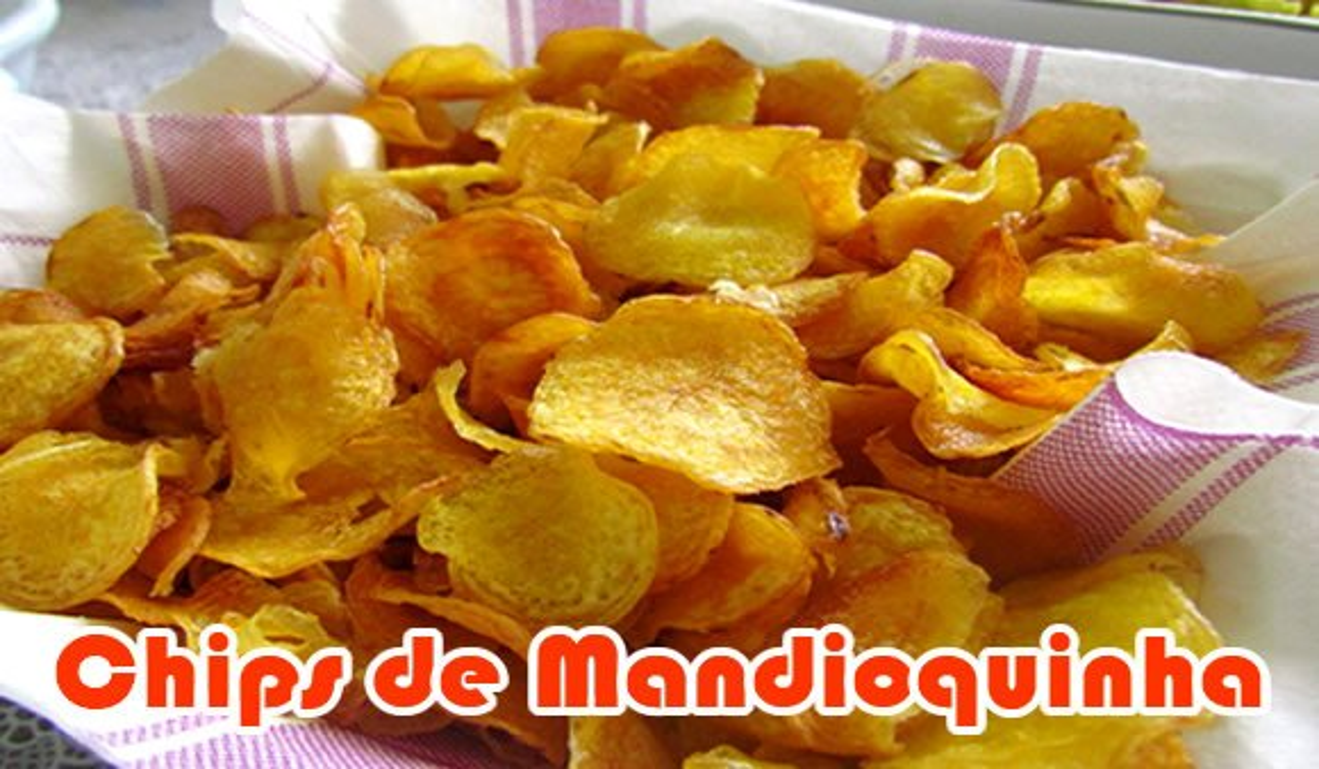 receita chips mandioquinha assada