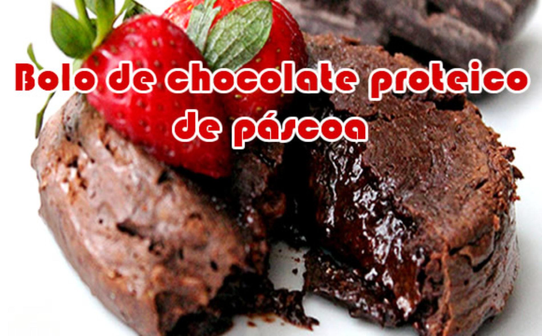 Bolo de proteina com Chocolate – Receitas de Páscoa
