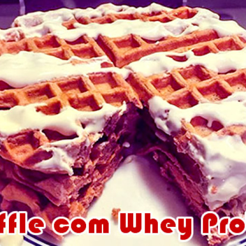 Waffles com Cream Cheese e Whey de morango