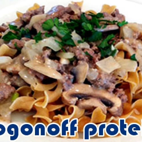 Strogonoff de carne proteico e com apenas 273 calorias