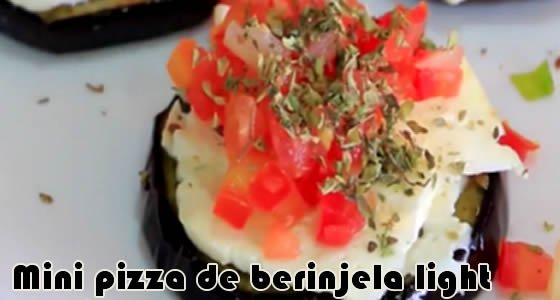 mini pizza de berinjela light - receitas fit