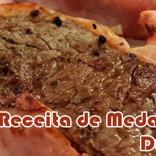 Medalhão de carne com bacon falso – Dieta Dukan