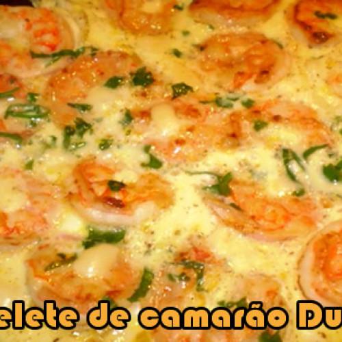 Omelete de camarão – Dieta Dukan