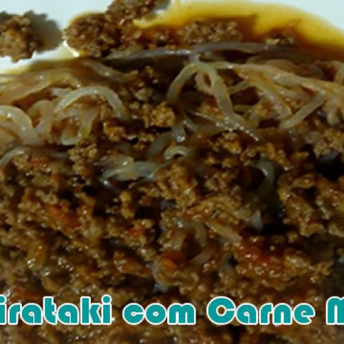 Shirataki com carne moída e tofu – Receitas fit