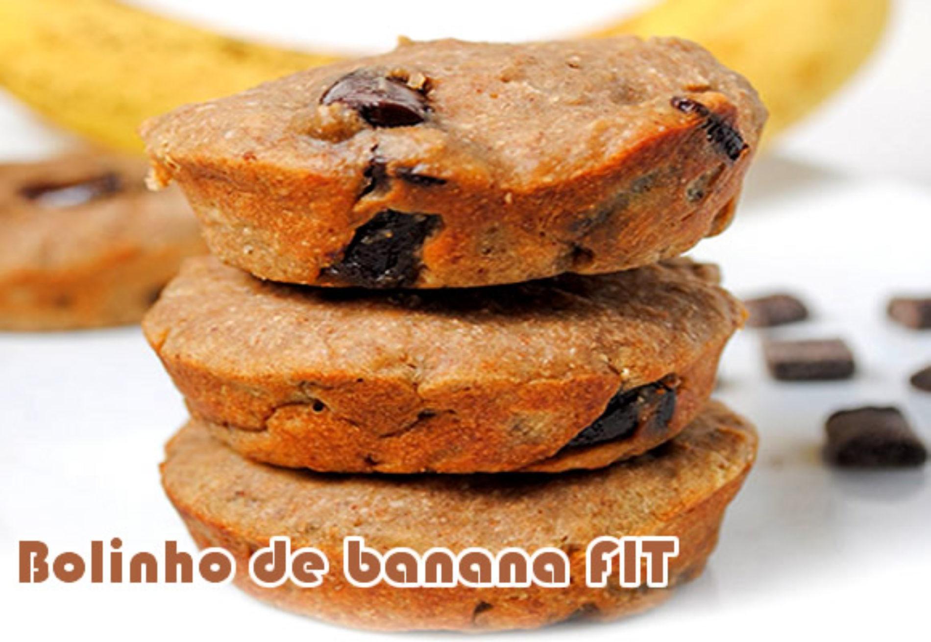 Bolinho de banana com gotas de chocolate – Receitas Fit