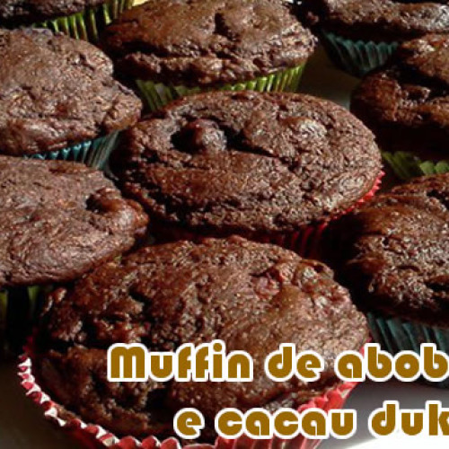 Muffin de abobrinha e cacau – Receitas dukan
