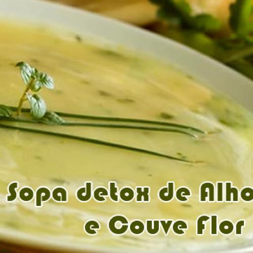 Sopa de alho poró com couve flor – Receitas detox