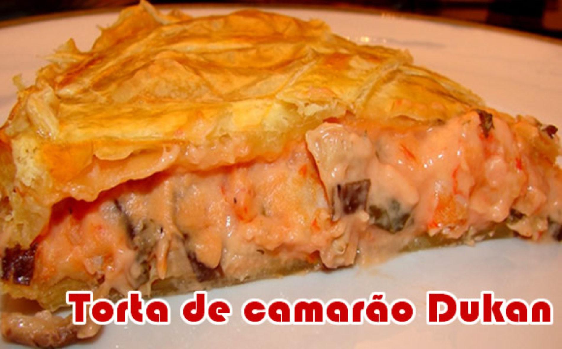 Torta de camarão – Receitas dukan