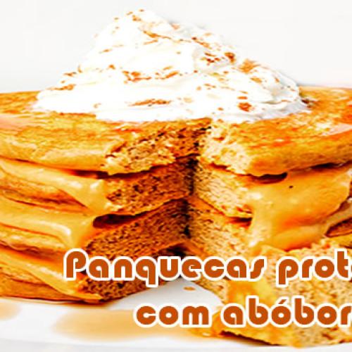 Torta de panquecas proteicas de abóbora