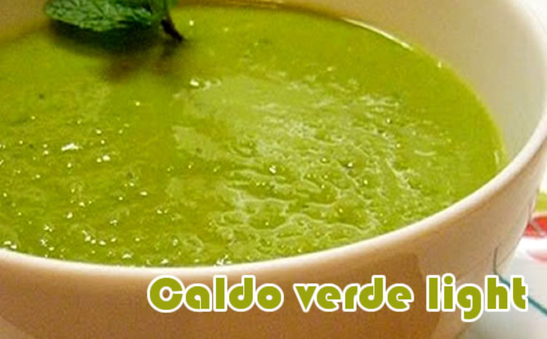 Caldo verde light – Receitas fit