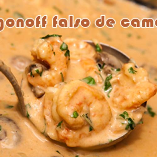 Strogonoff falso de camarão – Receitas dukan