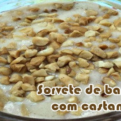 Sorvete com banana e castanha do Pará – Receitas fit