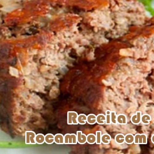 Rocambole de carne com aveia – Receitas fit