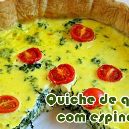Quiche de espinafre com queijo – Receitas fit