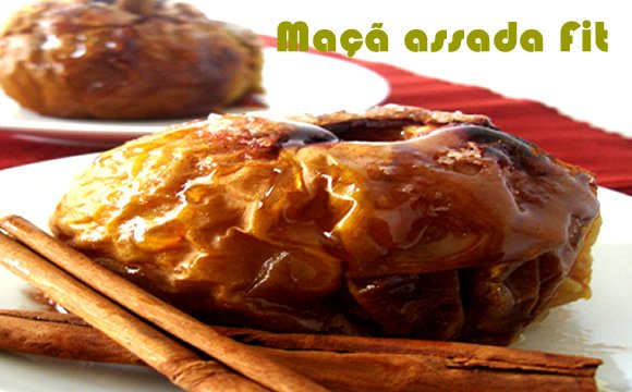 receita maca recheada assada fit light