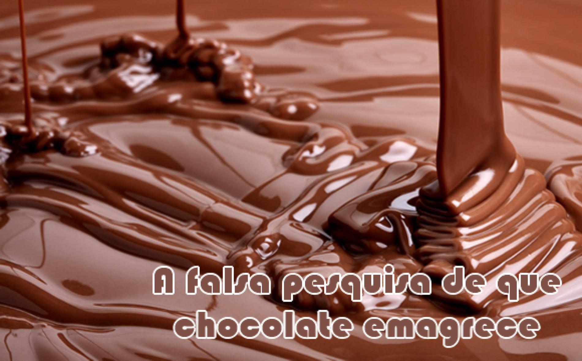 Chocolate emagrece? Estudo dizia que sim, mas era uma farsa!