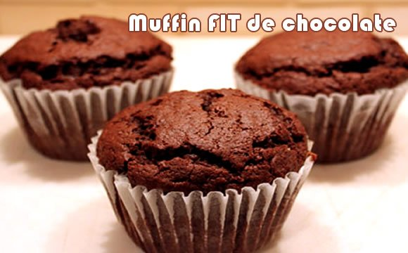 muffin de chocolate receita fit