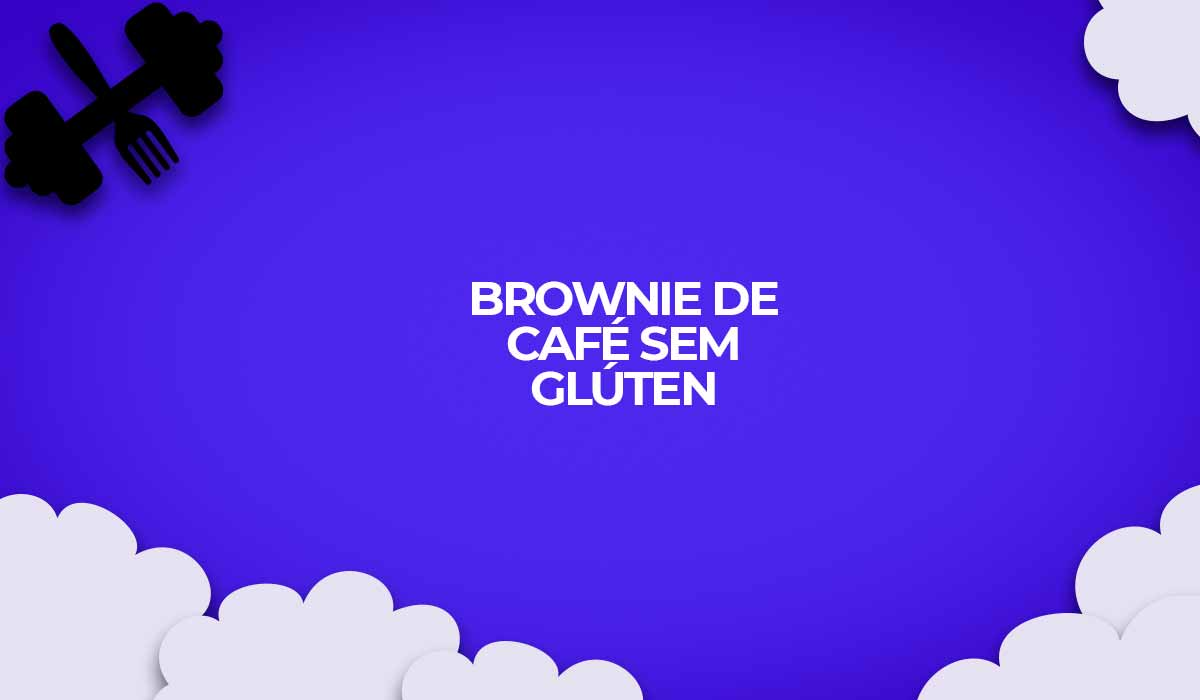 receita fit brownie de cafe sem gluten