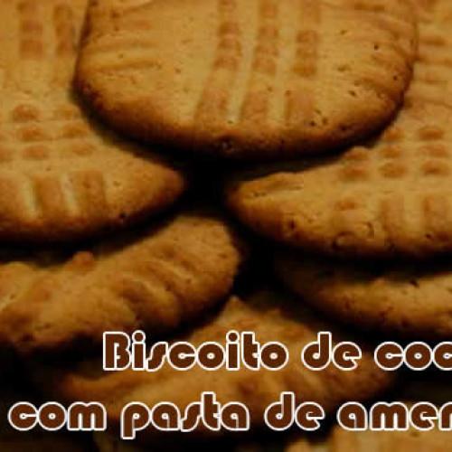 Biscoito de coco com pasta de amendoim – Receitas fit