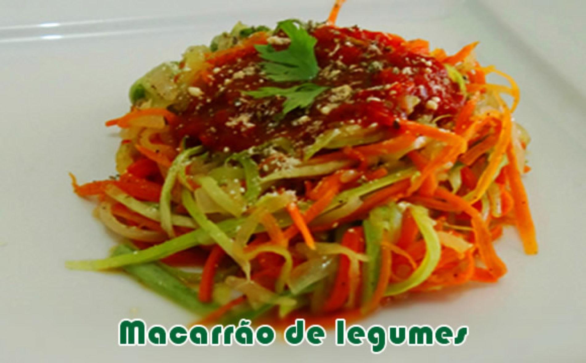 Macarrão de legumes – Receitas light