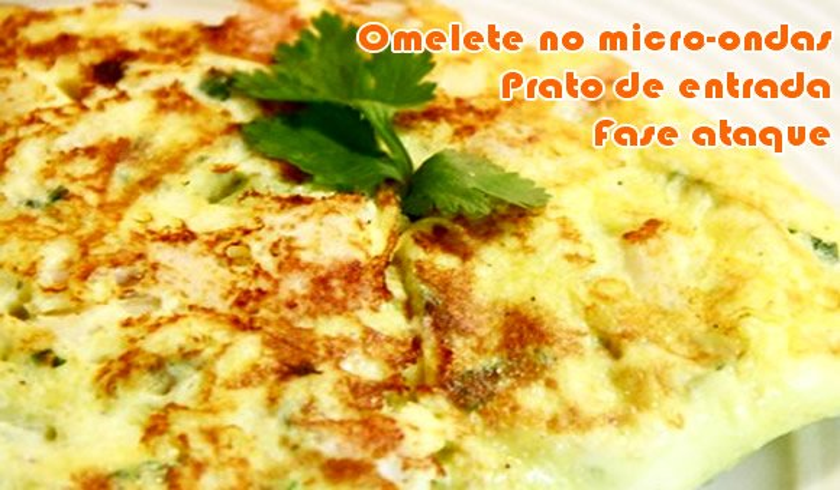 receita omelete no micro ondas fase ataque dukan