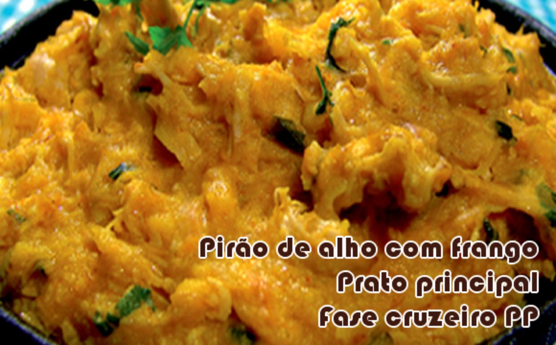 Pirão de alho com frango – Receitas dukan