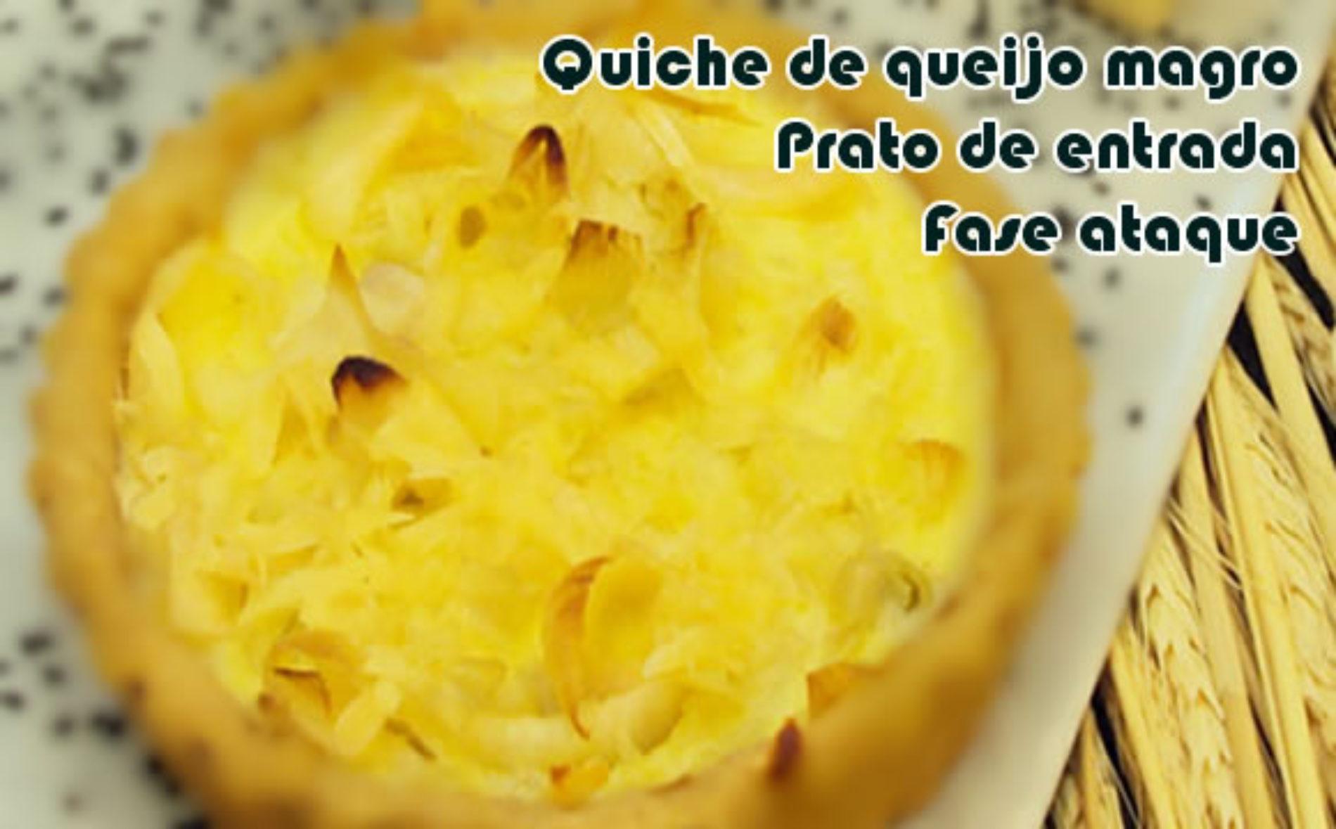 Quiche de queijo magro – Receita dukan