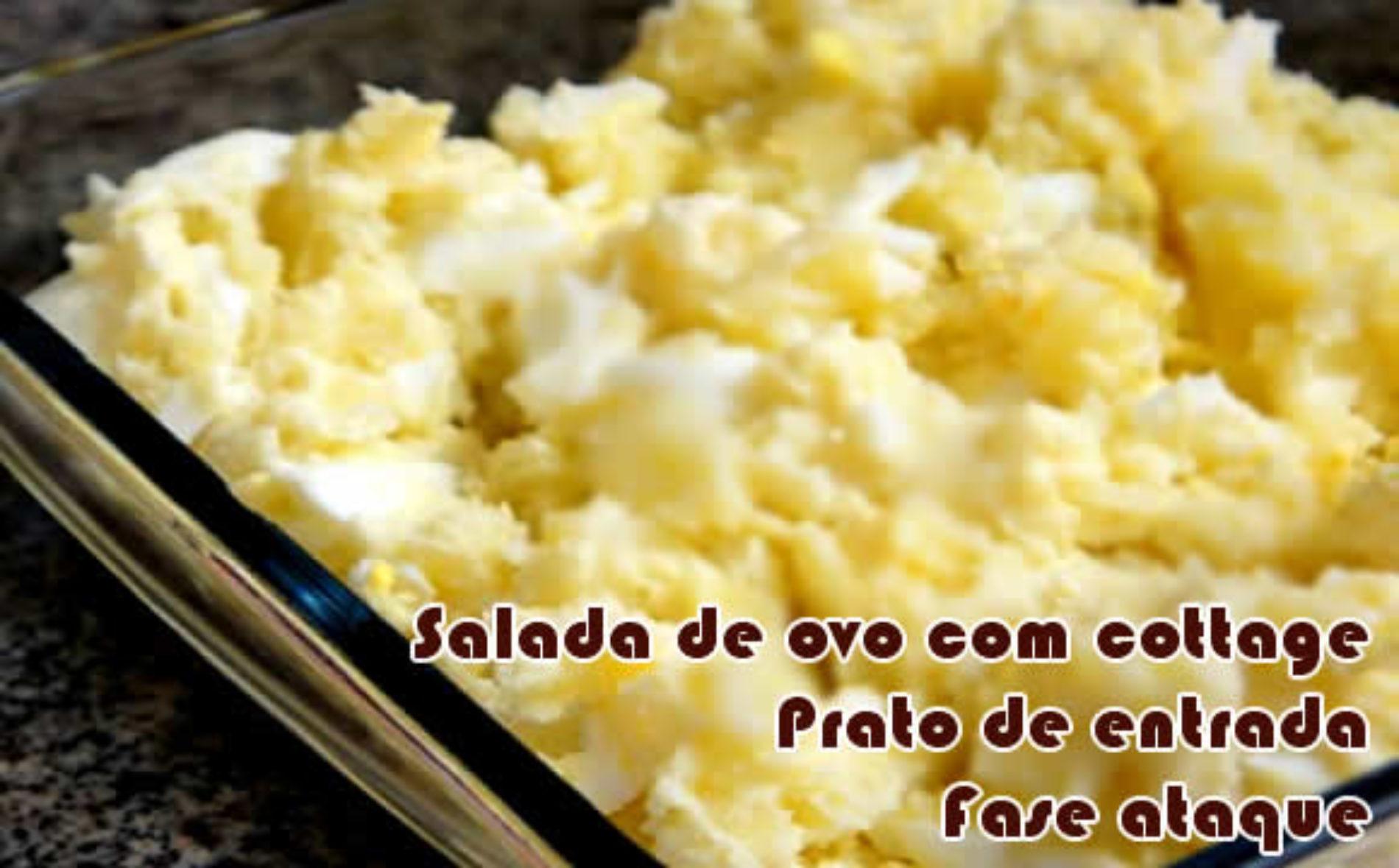 Salada de ovos com cottage – Receitas dukan