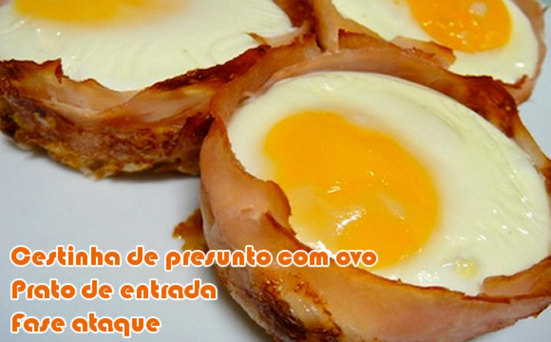 Cestinha de presunto de peru com ovo – Receitas dukan