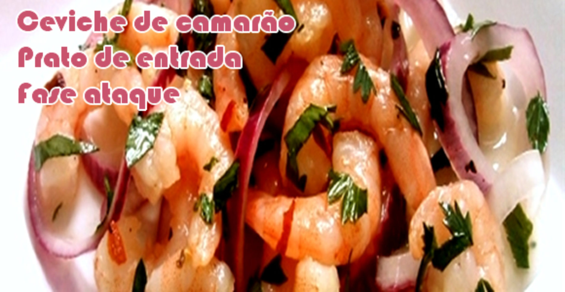 Ceviche de camarão – Receitas dukan