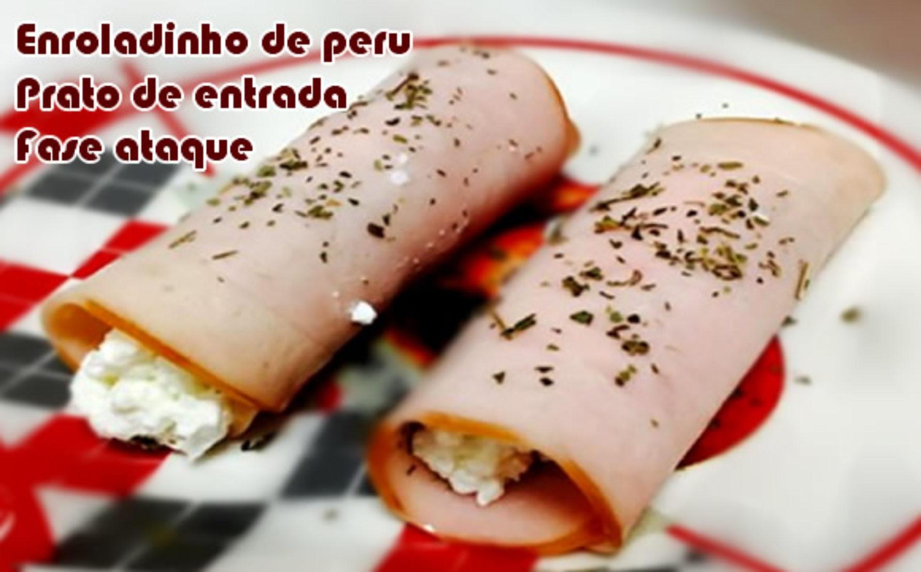 Enroladinho de peru com creme de alho – Receitas dukan