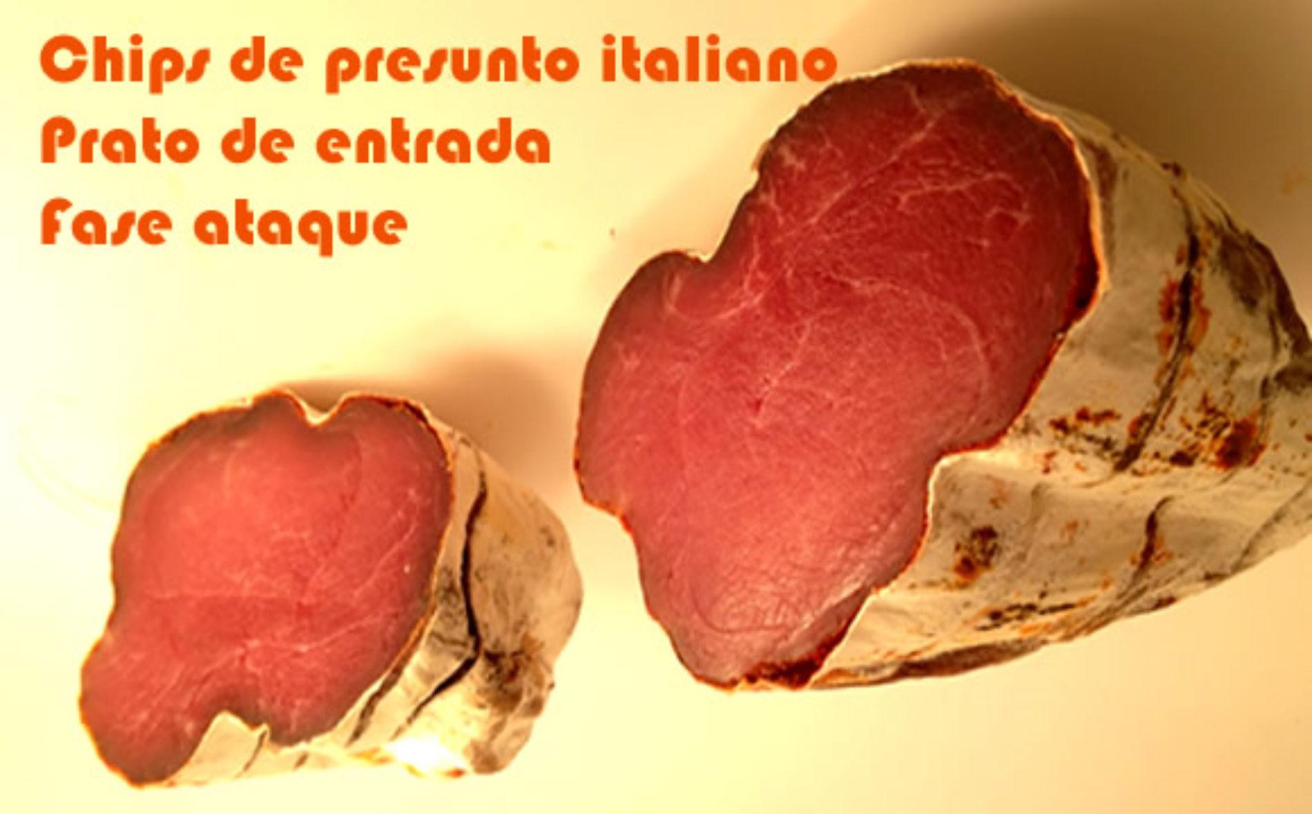 Chips de bresaola, presunto italiano
