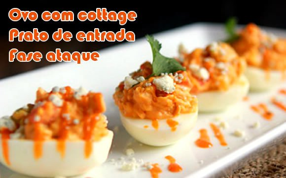 ovo com cottage e paprica receita fit