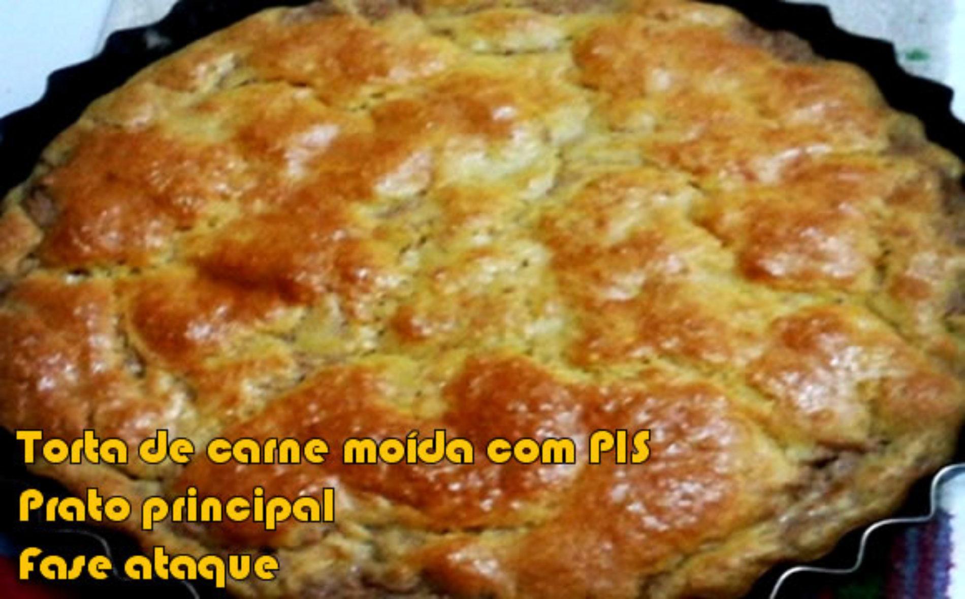Torta de carne moída, PIS e requeijão – FIT