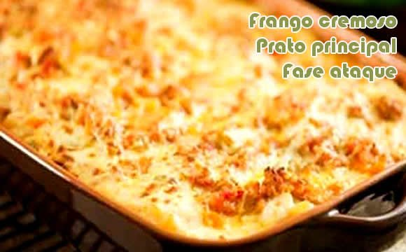 frango cremoso receita fit light