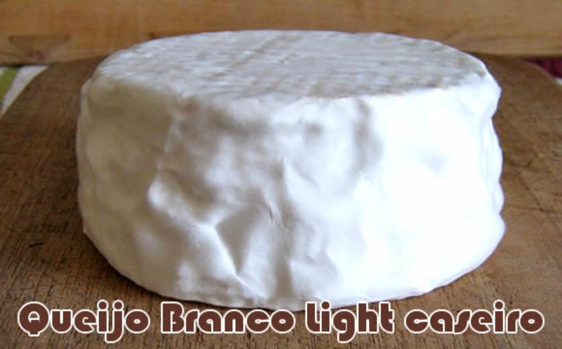 Queijo branco light caseiro