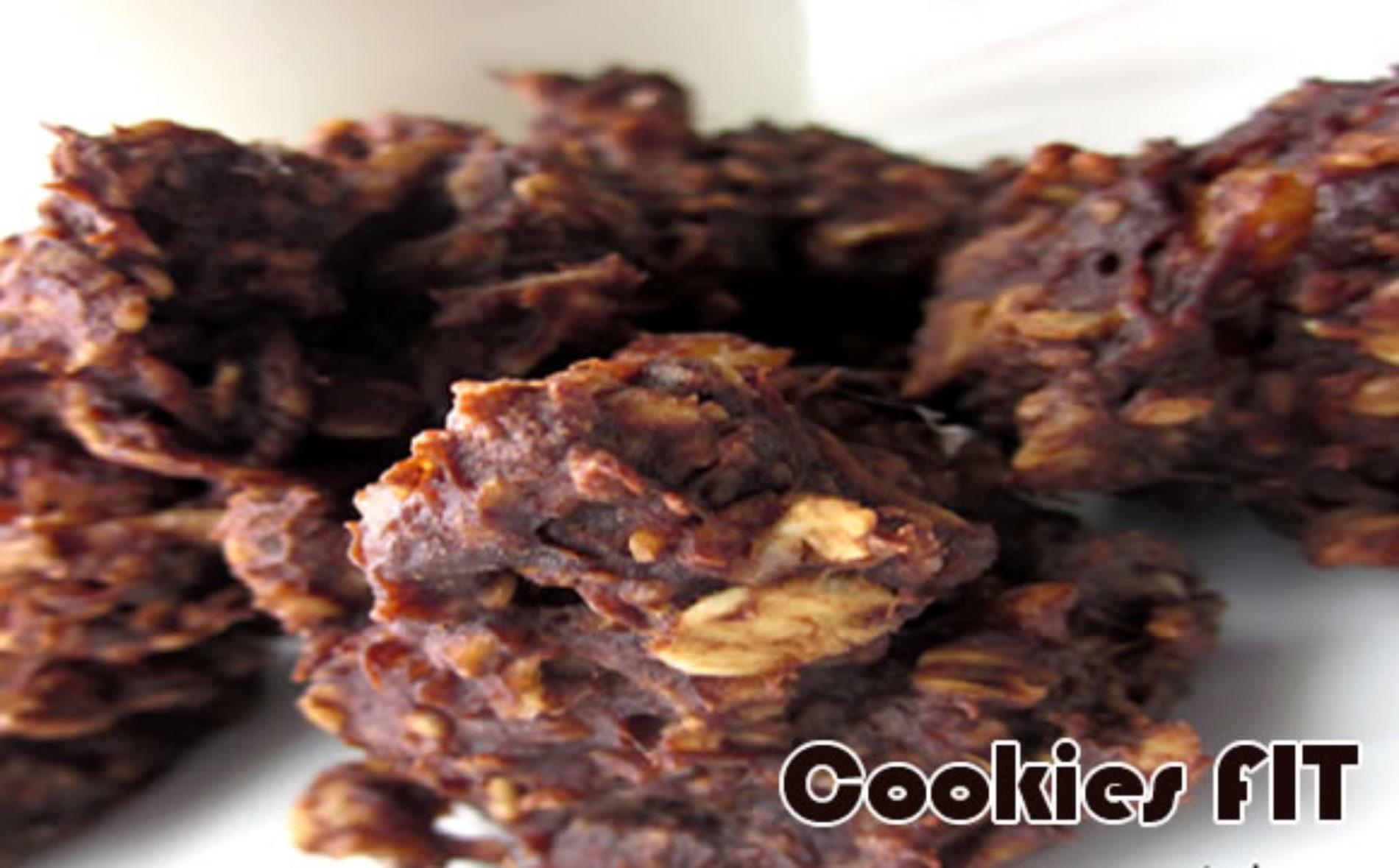 Receita de cookies FIT com amêndoas
